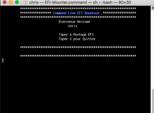 Command Line EFI Monteur Captur77
