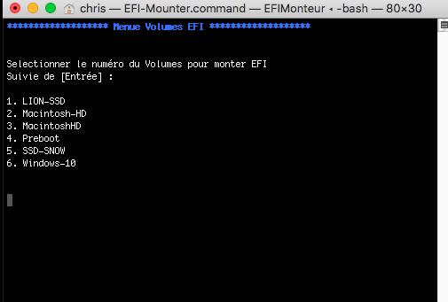 Command Line EFI Monteur Captur78