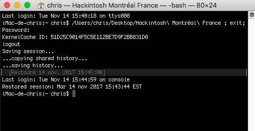 Command Rebuild kernel Caches Hackintosh Montréal France Captur91