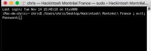 Command Rebuild kernel Caches Hackintosh Montréal France Captur92
