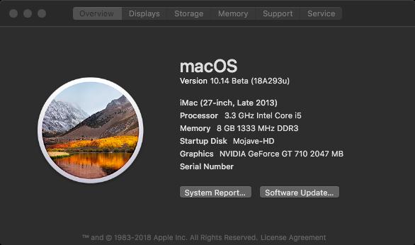 macOS Mojave 10.14 .Beta (Beta1, Beta2, Beta3, Beta4, Beta5, Beta6 . . .) Mojave10