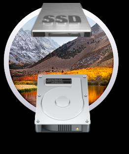 macOS High Sierra HD APFS et HFS+J  Produc11