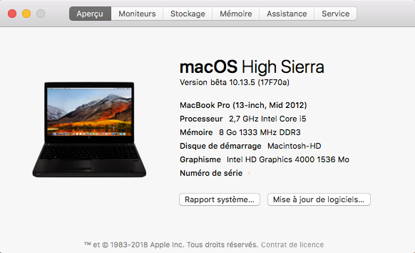 Beta macOS High Sierra Beta 10.13 1 (17B46a) a 10.13.2 Beta et +++ - Page 2 Sans_175