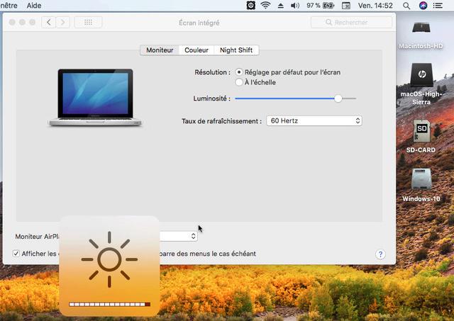 Beta macOS High Sierra Beta 10.13 1 (17B46a) a 10.13.2 Beta et +++ Sans_t30
