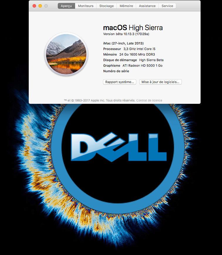 Beta macOS High Sierra Beta 10.13 1 (17B46a) a 10.13.2 Beta et +++ Sans_t35