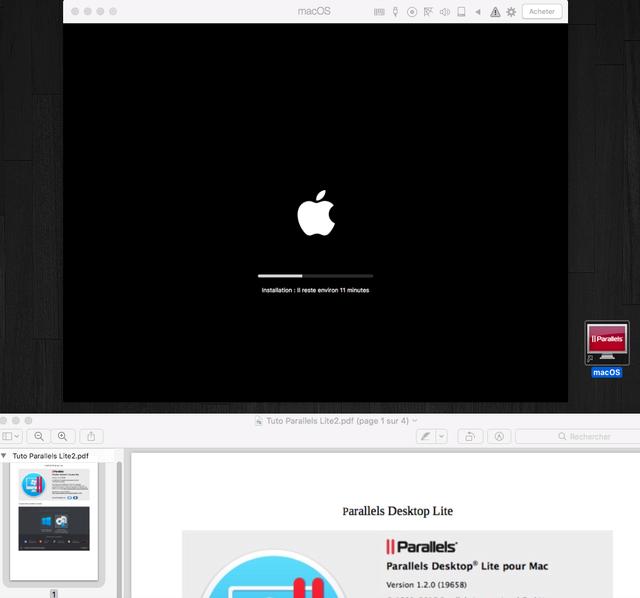 MacOS dans une VM avec Parallels Desktop Lite Sans_t51