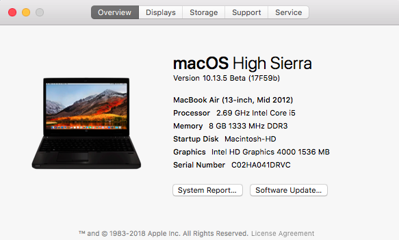 Beta macOS High Sierra Beta 10.13 1 (17B46a) a 10.13.2 Beta et +++ - Page 2 Untitl19