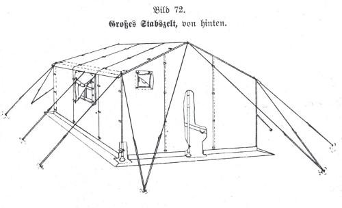 Tente allemande : Das Große Stabszelt Zelt-e10