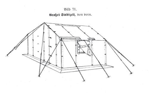 Tente allemande : Das Große Stabszelt Zelt-f10