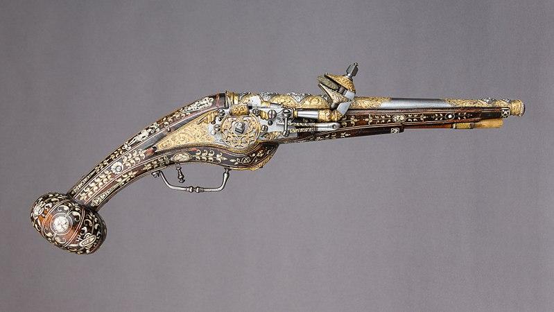 Pistolet à platine à rouet - LIFE-LIKE - Echelle 1/1 800px-10