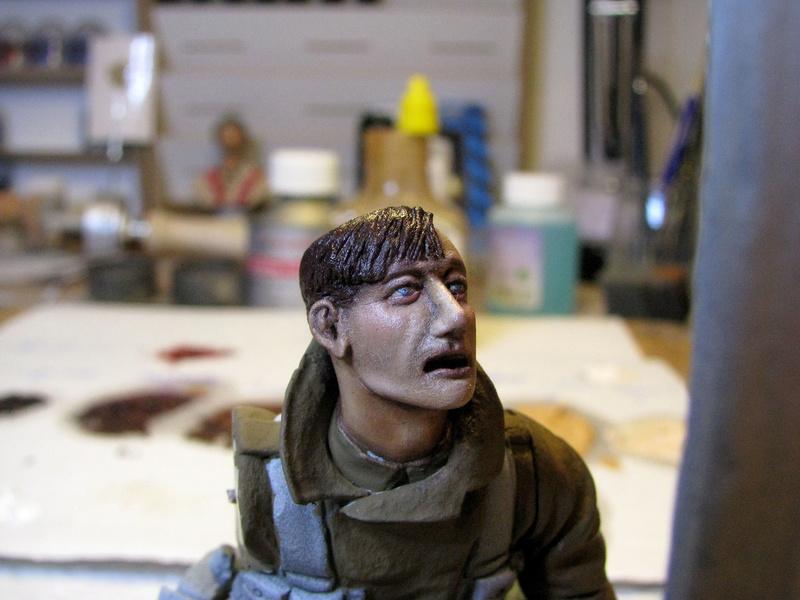 Avant la bataille d'Arras, mars 1917 - Soldat de la 35ème Division - Figurine résine David J. Parki Arras_10