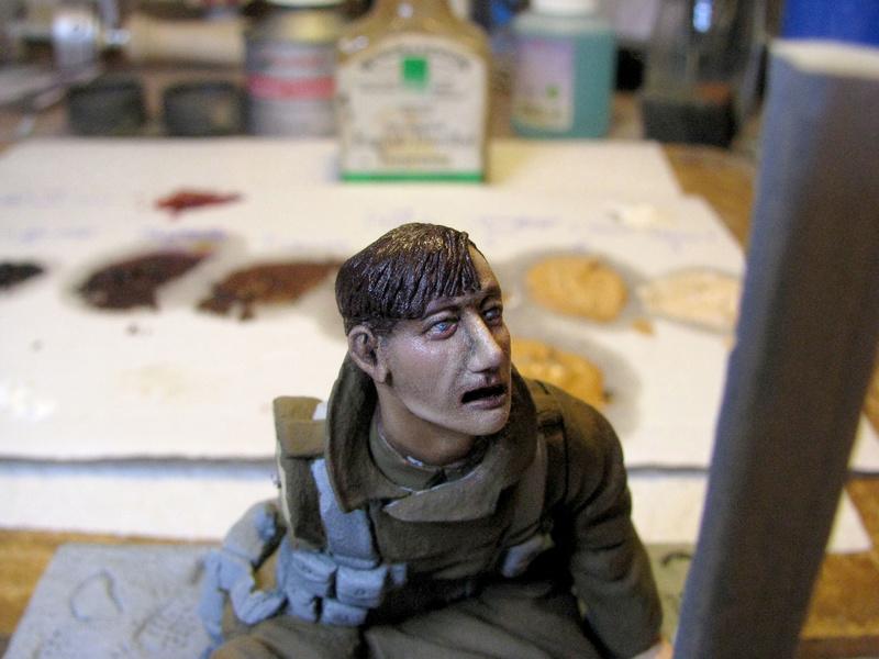 Avant la bataille d'Arras, mars 1917 - Soldat de la 35ème Division - Figurine résine David J. Parki Arras_11