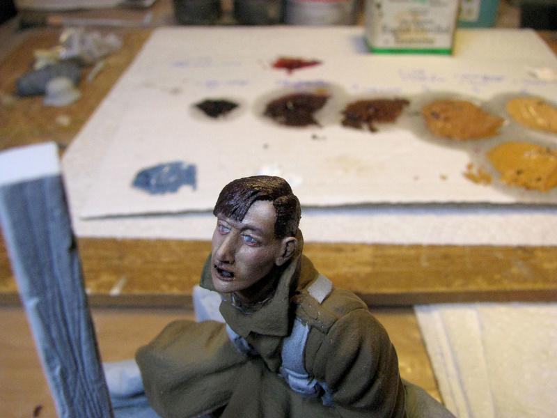Avant la bataille d'Arras, mars 1917 - Soldat de la 35ème Division - Figurine résine David J. Parki Arras_12