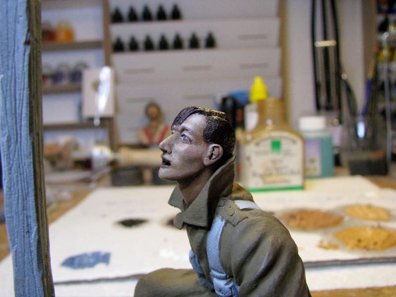 Avant la bataille d'Arras, mars 1917 - Soldat de la 35ème Division - Figurine résine David J. Parki Arras_13