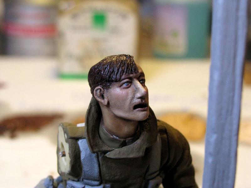 Avant la bataille d'Arras, mars 1917 - Soldat de la 35ème Division - Figurine résine David J. Parki Arras_14