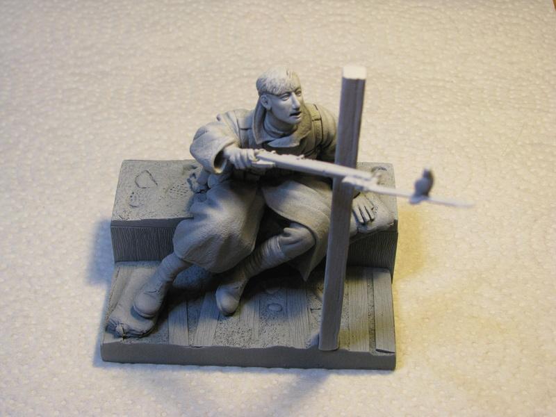 Avant la bataille d'Arras, mars 1917 - Soldat de la 35ème Division - Figurine résine David J. Parki Img_0030