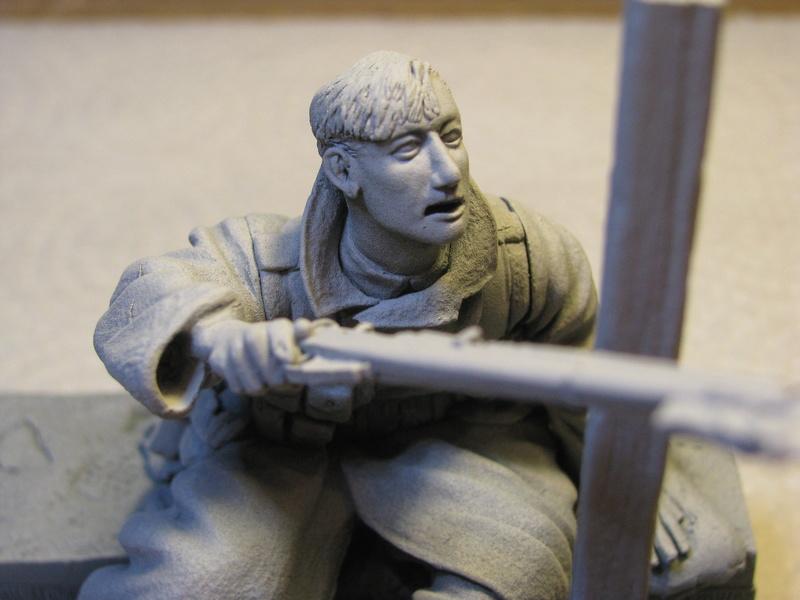 Avant la bataille d'Arras, mars 1917 - Soldat de la 35ème Division - Figurine résine David J. Parki Img_0031