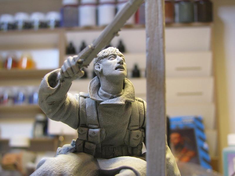 Avant la bataille d'Arras, mars 1917 - Soldat de la 35ème Division - Figurine résine David J. Parki Img_0034