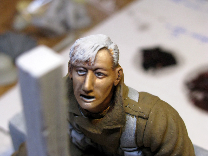 Avant la bataille d'Arras, mars 1917 - Soldat de la 35ème Division - Figurine résine David J. Parki Img_0037