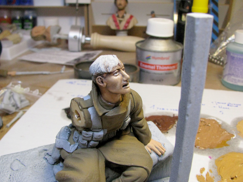Avant la bataille d'Arras, mars 1917 - Soldat de la 35ème Division - Figurine résine David J. Parki Img_0038