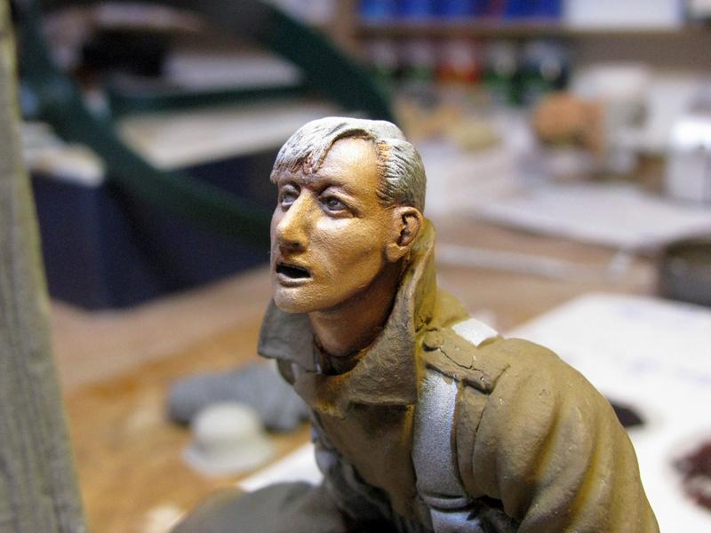 Avant la bataille d'Arras, mars 1917 - Soldat de la 35ème Division - Figurine résine David J. Parki Img_0039