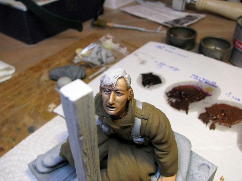 Avant la bataille d'Arras, mars 1917 - Soldat de la 35ème Division - Figurine résine David J. Parki Img_0041