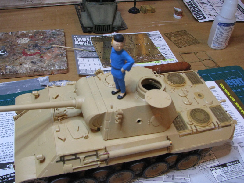 Char terminé - Panther Ausf.D - Sd.Kfz.171 (Tamiya 35345) + photo-découpe Passion Models P35-115V - Page 2 Img_0043