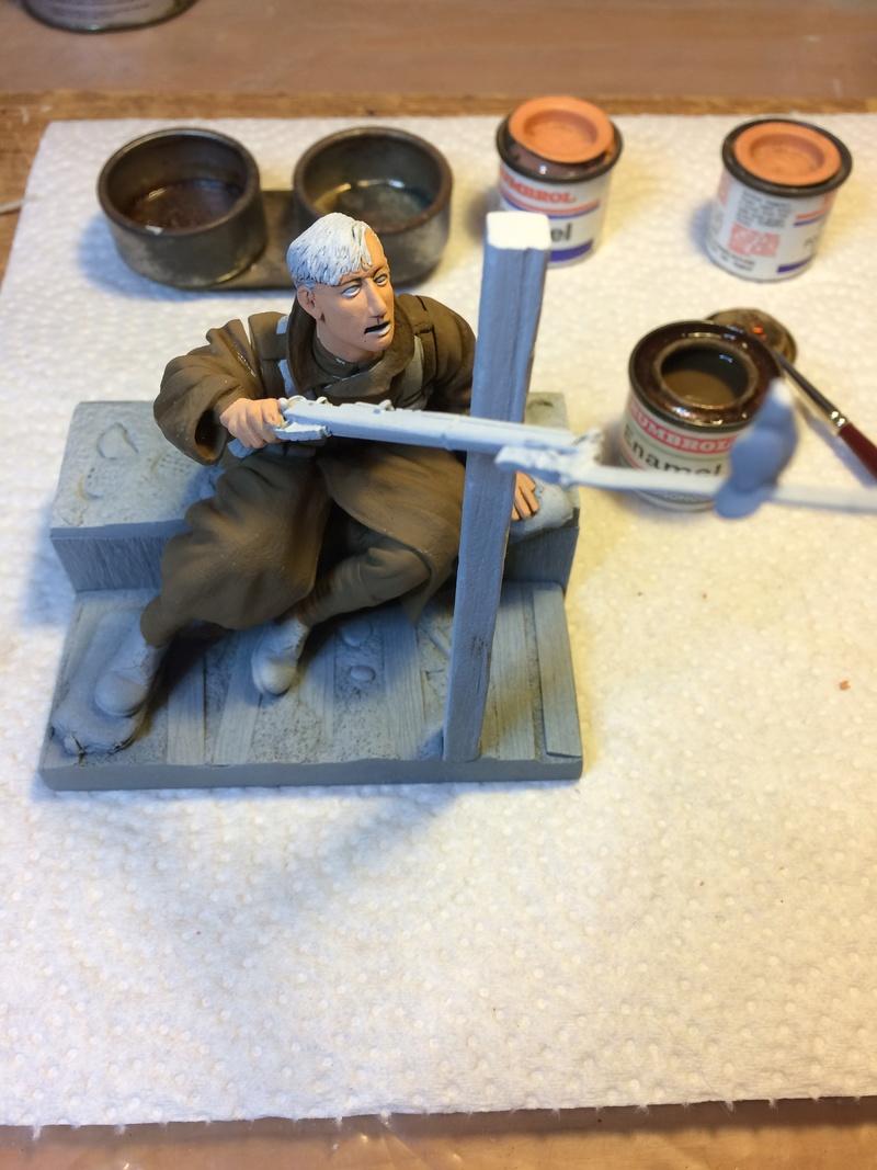 Avant la bataille d'Arras, mars 1917 - Soldat de la 35ème Division - Figurine résine David J. Parki Img_5311