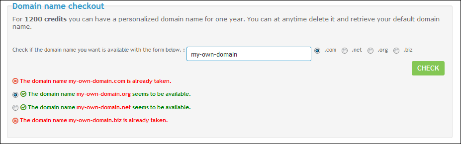 Custom Your Domain Name Domain12