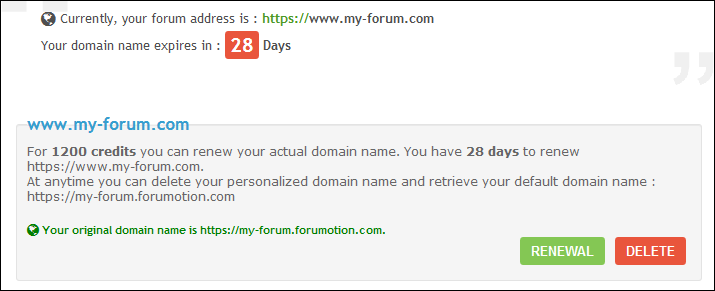 Custom Your Domain Name Domain14