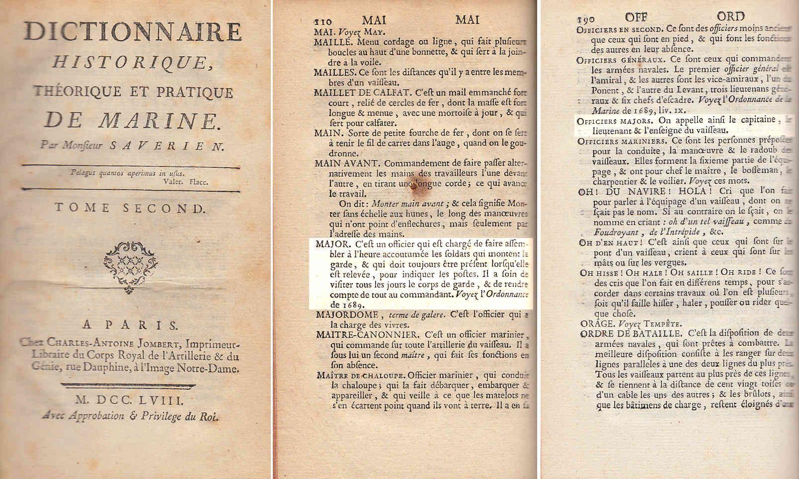 """""""Officiers-majors"""" sous Louis XVI : les officiers de l'état-major du navire Xxxx10"""