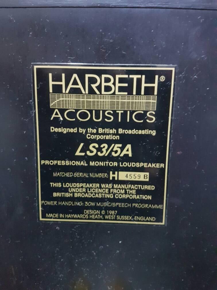 Harbeth LS3/5A Monitor Speaker (Sold) Img-2013