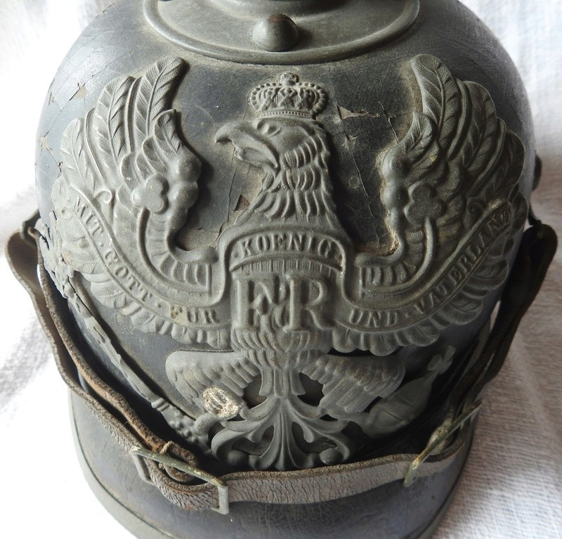 casque à pointe Prussien modèle 1915 pointe amovible Dscn4014