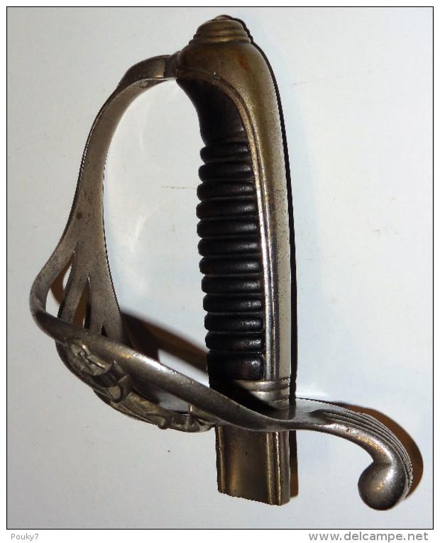 Poignée de sabre de marine énigme, façon officier d'infanterie, modèle 1882  289_0014
