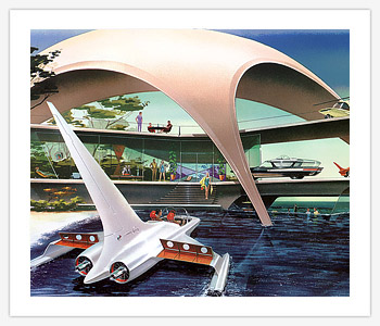 Avions 1950's, futuristes et vaisseaux spaciaux - Vintage Spaceships, Starships and futuristic planes.  - Page 2 Beach10