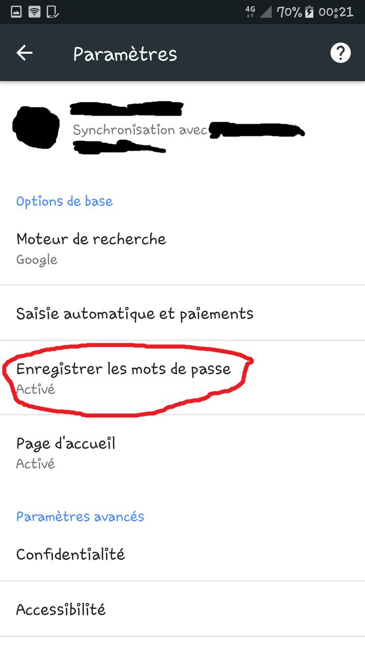 Récupérer un mot de passe oublié/perdue sur Google Chrome via l'appli Chrome d'android. Mdp_ry12