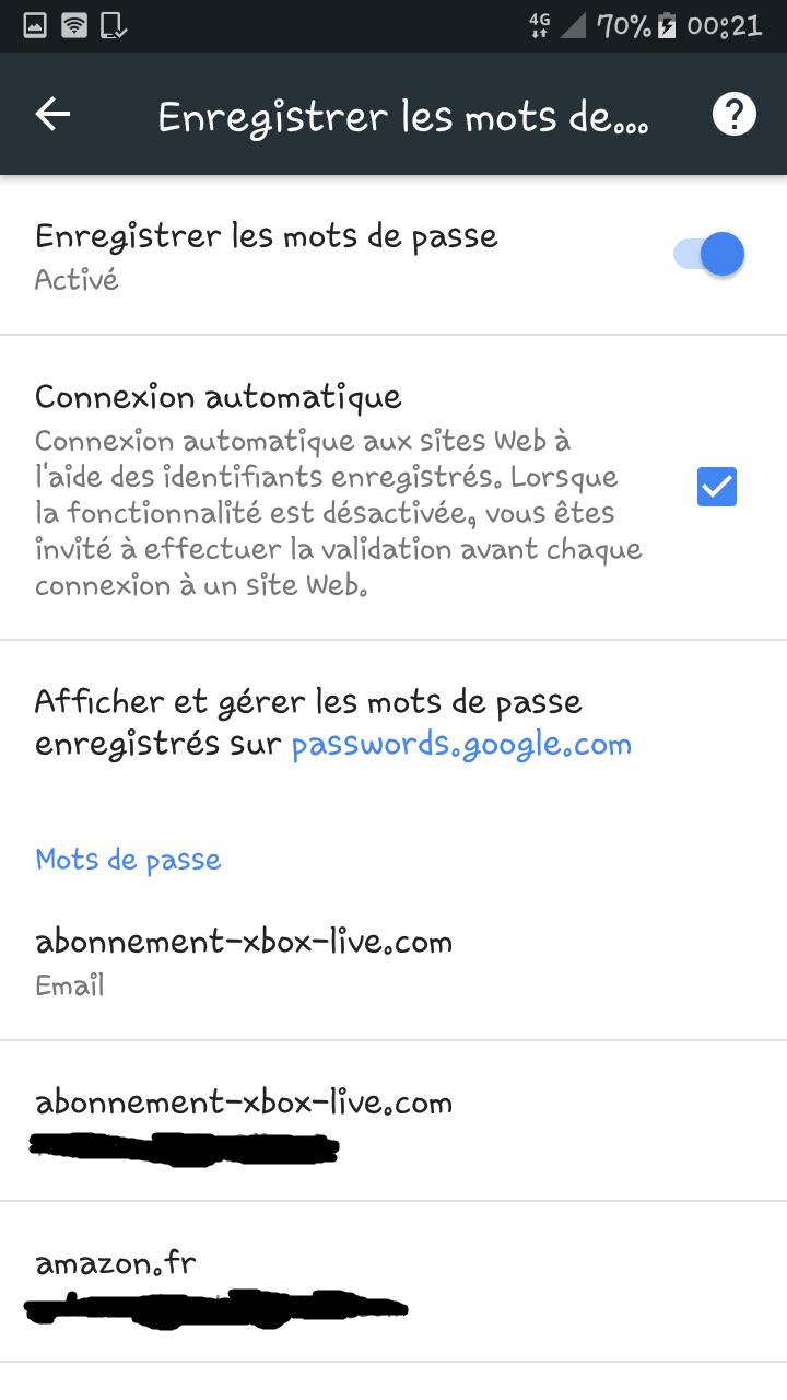 Récupérer un mot de passe oublié/perdue sur Google Chrome via l'appli Chrome d'android. Mdp_ry13