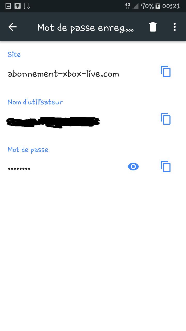 Récupérer un mot de passe oublié/perdue sur Google Chrome via l'appli Chrome d'android. Mdp_ry14