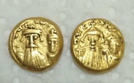 Solidi globulaires, Constans II (641-668) et son fils Constantin IV, Carthage ... 21624210