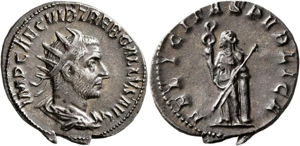 Trebonianus Gallus, felicitas publica. Galle10