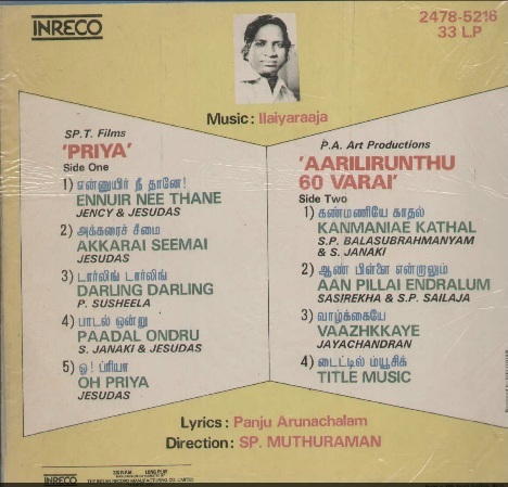 "Vinyl (""LP"" record) covers speak about IR (Pictures & Details) - Thamizh Priya_17"