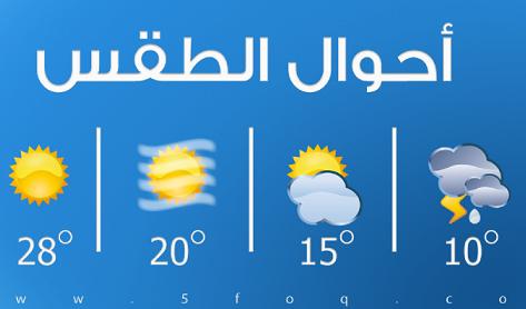 توقعات الطقس ليوم الاثنين ٩ - ٤ - ٢٠١٨ 01111