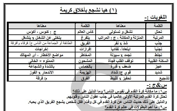 مراجعة اللغة العربية للأول الإعدادي الترم الثاني 2018 0195