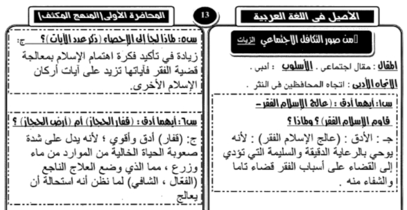 مراجعة الأصيل فى اللغة العربية للثانوية العامة ٢٠١٨ مستر ياسر سليم 02104