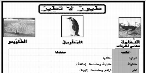 ملزمة اللغة العربية الصف الرابع ترم ثان 2018 0623