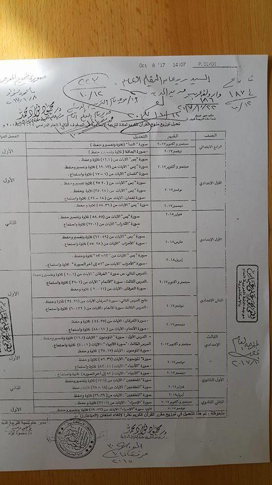 عاجل.. تعديلات هامة بمناهج اللغة العربية والتربية الاسلامية لجميع المراحل 0_410