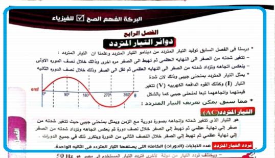 مراجعة فيزياء ممتازة للصف الثالث الثانوى 2019 أ/ احمد بركة 1040