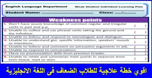 اقوي خطة علاجية للطلاب الضعاف فى اللغة الانجليزية - صفحة 2 11013