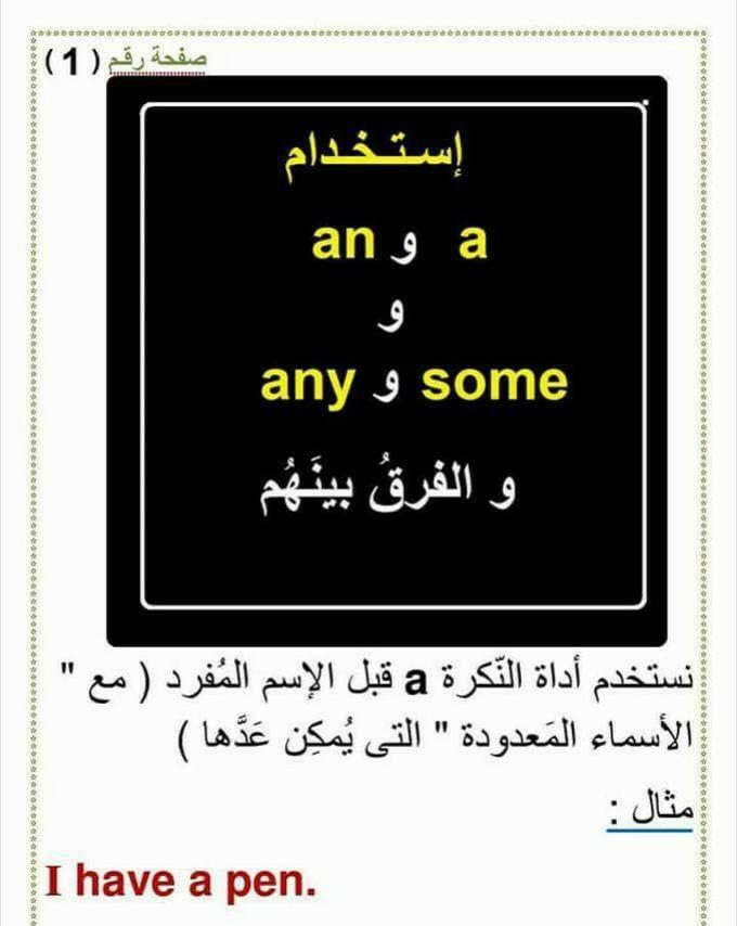 استخدام an و a و any و some  و الفرق بينهم 150