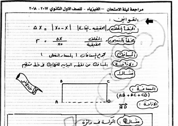 أخطر مراجعة فيزياء للأول الثانوي 25 ورقة فقط لمستر هانى فرحات 21109